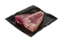 TBone steak in vacuum package Royalty Free Stock Photo