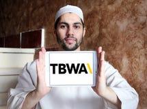 TBWA Na całym świecie reklamowej agenci logo Fotografia Stock