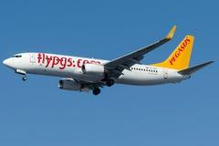 TC-AAJ Pegasus Airlines, Boeing 737-800 som namnges ECE Arkivbilder