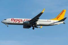TC-AAL Pegasus Airlines, Boeing 737 - 800 Arkivfoto