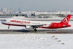 TC-AGG atlant Globalny, Aerobus A321-200 Obrazy Stock