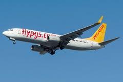 TC-AHP Pegasus Airlines, Boeing 737-800 nominato MIRA Fotografie Stock
