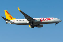 TC-CCP Pegasus Airlines, Boeing 737-800 Imagem de Stock
