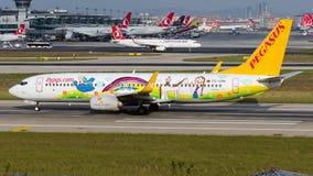 TC-CPN Pegasus Airlines, ADA E de Boeing 737-800 écurie photographie stock libre de droits