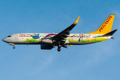 TC-CPN Pegasus Airlines, Boeing 737 - 800 Imagens de Stock Royalty Free