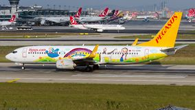 TC-CPN Pegasus Airlines, Boeing 737-800 Ada E. Livery royalty free stock photography