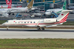 TC-DAP türkische Regierung, Gulfstream G550 Stockbilder