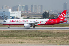TC-EUM AtlasGlobal Airlines , Airbus A321-211 Stock Photography