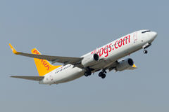 Tc-IZB Pegasus Airlines Boeing 737-86J Royalty-vrije Stock Foto
