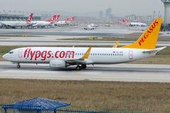 TC-IZC Pegasus Airlines, Boeing 737-86J Obrazy Royalty Free
