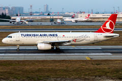 TC-JBI Turkish Airlines , Airbus A320-232 named UZUNGOL Royalty Free Stock Photos
