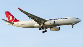 TC-JDF Turkish Airlines Cargo, Airbus A330-243F named TRAKYA Royalty Free Stock Photography