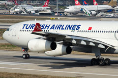 TC-JDM Turkish Airlines, Airbus A340-311 IZMIR Stock Photography