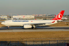 TC-JDR Turkish Airlines Cargo , Airbus A330-243F named GEDIZ Stock Photography