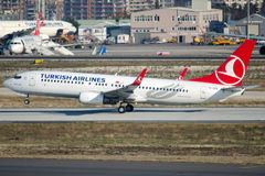 TC-JFK Turkish Airlines, Boeing 737-8F2 named ZONGULDAK royalty free stock photo