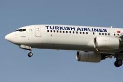 TC-JFO Turkish Airlines Боинг 737-8F2 ЭДИРНЕ Стоковые Фотографии RF