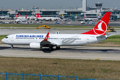 TC-JFO Turkish Airlines, Boeing 737-8F2 named EDIRNE Stock Images