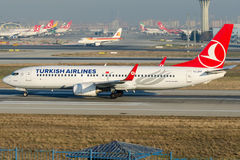 TC-JFP Turkish Airlines, Boeing 737-8F2 named AMASYA Royalty Free Stock Photography