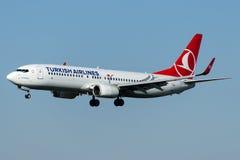 TC-JFT Turkish Airlines, Boeing 737-8F2 KASTAMONU Fotografia Stock Libera da Diritti