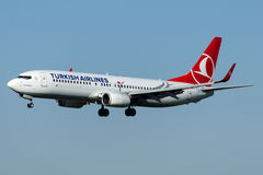 TC-JFT Turkish Airlines, Boeing 737-8F2 KASTAMONU Royaltyfri Fotografi