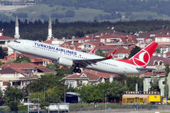 TC-JFU Turkish Airlines Boeing 737-8F2 ELAZIG Royalty Free Stock Photo