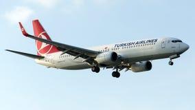 TC-JFY土耳其航空, 737-8F2名为马尼萨的波音 库存图片