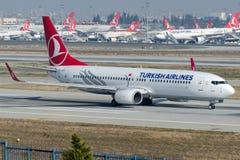 TC-JFZ Turkish Airlines, Bıeing 737-8F2 zwany BOLU Fotografia Stock