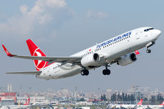 TC-JFZ Turkish Airlines, Boeing 737-8F2 named BOLU Stock Photography