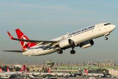 TC-JGC Turkish Airlines, Boeing 737-8F2 appelé ABANT Photographie stock
