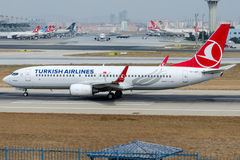TC-JGF Turkish Airlines, Boeing 737-8F2 named ARDAHAN Royalty Free Stock Photo