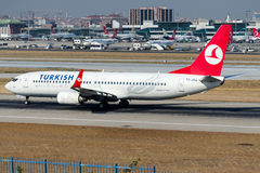 TC-JGJ Turkish Airlines, Boeing 737-8F2 named AYDIN Stock Photos