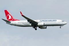 TC-JGP土耳其航空,波音737-8F2巴尔滕 库存图片