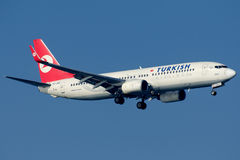 TC-JHD土耳其航空, 737-8F2名为塞里克的波音 库存图片