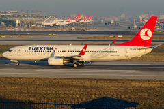 TC-JHF Turkish Airlines, Boeing 737-8F2 named AYVALIK Royalty Free Stock Photography