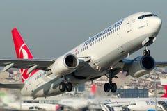 TC-JHN Turkish Airlines , Boeing 737-8F2 named YESILIRMAK Stock Photo