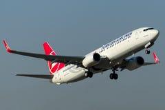 TC-JHN Turkish Airlines Boeing 737-8F2 YESILIRMAK Imágenes de archivo libres de regalías