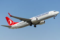 Tc-JHO Turkish Airlines, Boeing 737-8F2 KOPRUBASI Stock Fotografie
