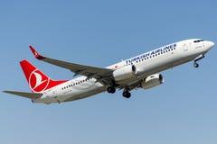 TC-JHO Turkish Airlines, Boeing 737-8F2 KOPRUBASI Stock Photography