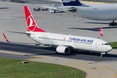 TC-JHP Turkish Airlines Боинг 737-8F2 DICLE Стоковая Фотография