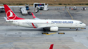 TC-JHR Turkish Airlines, Boeing 737-8F2 named MANISA Stock Photography