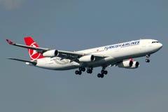 Tc-JIH Turkish Airlines-Luchtbus A340-313X KOCAELI Royalty-vrije Stock Foto's