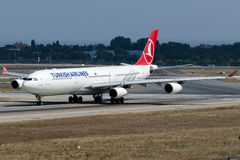 TC-JII Turkish Airlines , Airbus A340-313X named MERSIN Royalty Free Stock Photo