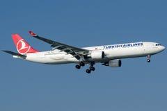 TC-JIO土耳其航空, A330-303名为克孜勒贾哈马姆的空中客车 库存照片