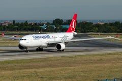 TC-JIR Turkish Airlines, Airbus A330-223 nomeado CATALHOYUK Fotos de Stock