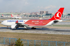 Tc-JIZ Turkish Airlines, Luchtbus A330-223 genoemd ALACAHOYUK Stock Foto
