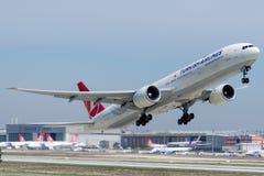 TC-JJO Turkish Airlines, Boeing 777-3F2 (ER) ISTANBUL Images libres de droits