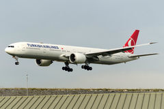 Tc-JJP Boeing 777-8F2ER Turkish Airlines Royalty-vrije Stock Afbeeldingen