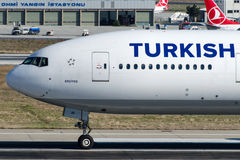 TC-JJR Turkish Airlines, Boeing 777-3F2 named ERCIYES Stock Image