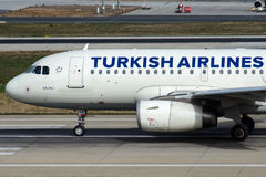 TC-JLS Turkish Airlines, airbus A319-132 SALIHLI Στοκ Εικόνα