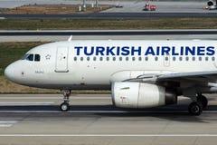 TC-JLS Turkish Airlines, flygbuss A319-132 SALIHLI Fotografering för Bildbyråer